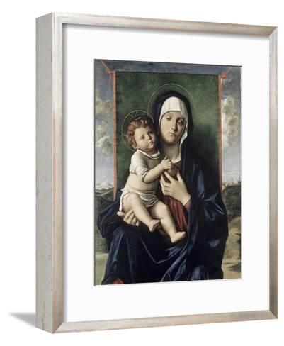 Madonna and Child-Giovanni Bellini-Framed Art Print