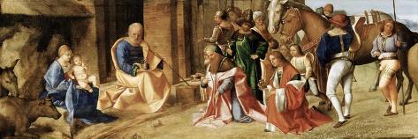 The Adoration of the Magi-Giorgione-Stretched Canvas Print