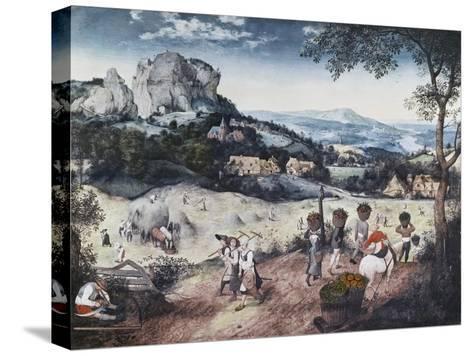 Haymaking-Pieter Bruegel the Elder-Stretched Canvas Print