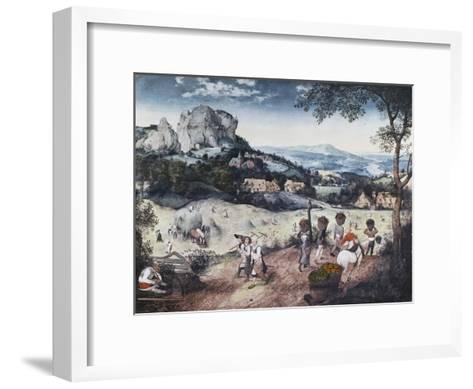 Haymaking-Pieter Bruegel the Elder-Framed Art Print