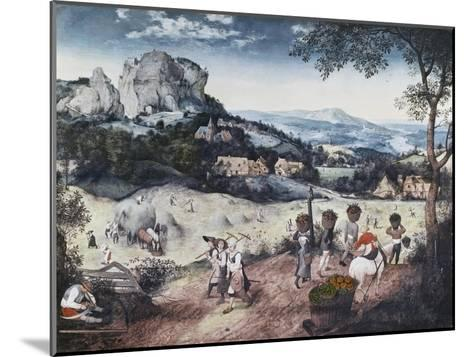 Haymaking-Pieter Bruegel the Elder-Mounted Giclee Print
