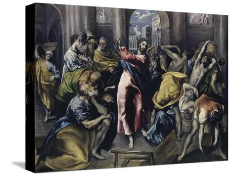 Christ Driving Moneychangers from Temple-El Greco-Stretched Canvas Print