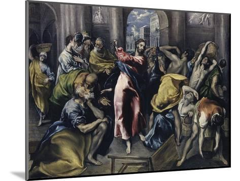 Christ Driving Moneychangers from Temple-El Greco-Mounted Giclee Print