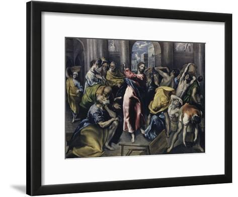 Christ Driving Moneychangers from Temple-El Greco-Framed Art Print