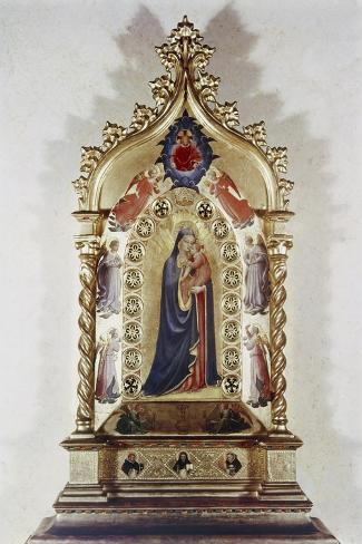 Madonna of the Stars-Fra Angelico-Stretched Canvas Print