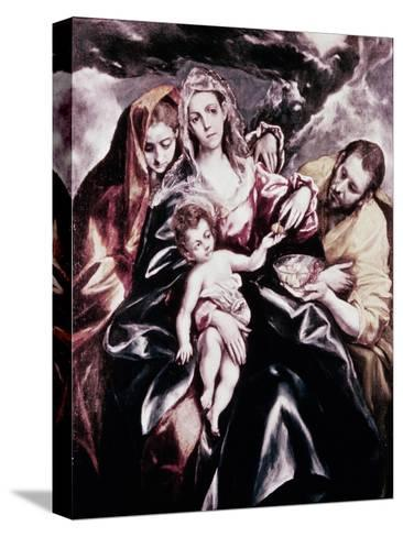 The Holy Family with Mary Magdalene-El Greco-Stretched Canvas Print