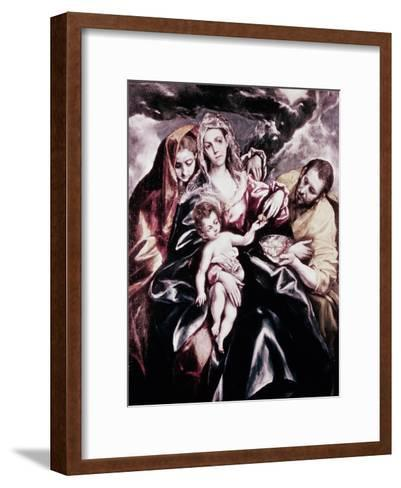 The Holy Family with Mary Magdalene-El Greco-Framed Art Print