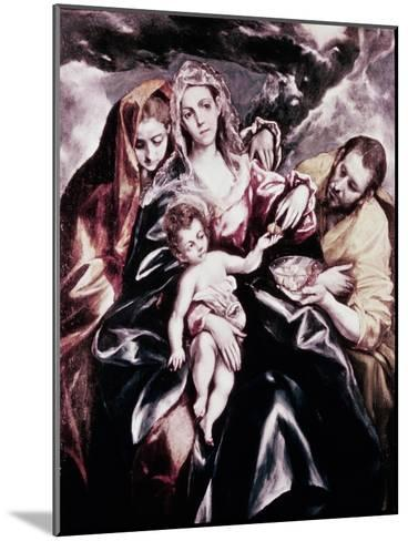 The Holy Family with Mary Magdalene-El Greco-Mounted Giclee Print