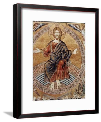 Christ Enthroneddetail from the Last Judgement--Framed Art Print