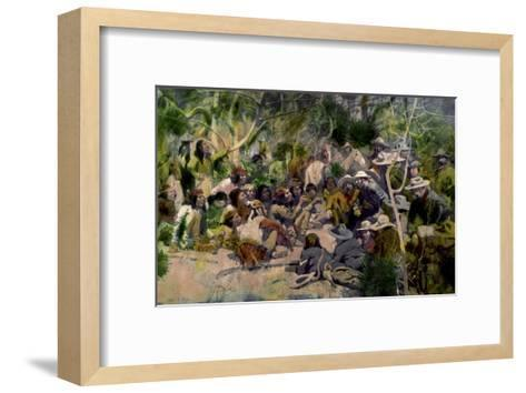 Crook's Conference with Geronimo-William F. Kline-Framed Art Print
