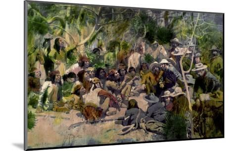 Crook's Conference with Geronimo-William F. Kline-Mounted Giclee Print