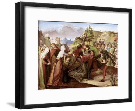 Christ on His Way to Golgotha-W. Von Schadow-Framed Art Print