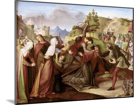 Christ on His Way to Golgotha-W. Von Schadow-Mounted Giclee Print