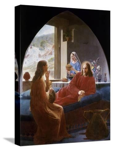 Jesus with Mary and Martha-Christen Dalsgaard-Stretched Canvas Print