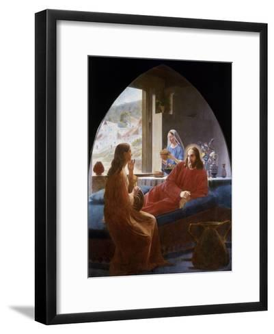 Jesus with Mary and Martha-Christen Dalsgaard-Framed Art Print