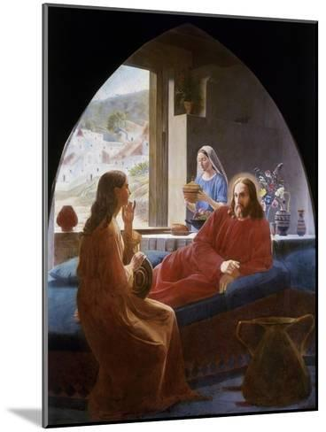 Jesus with Mary and Martha-Christen Dalsgaard-Mounted Giclee Print