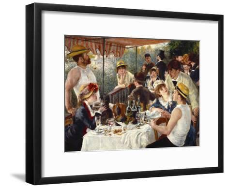 Luncheon of the Boating Party-Pierre-Auguste Renoir-Framed Art Print