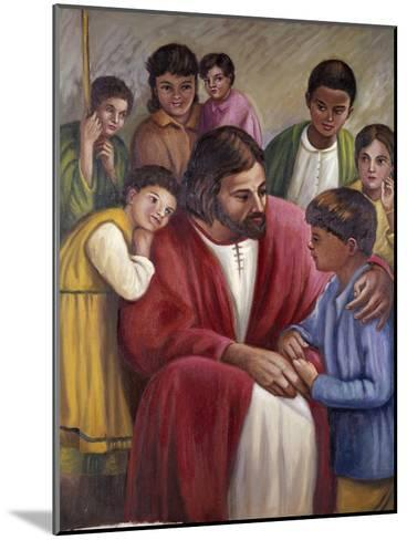 Christ and the Children of All Races-Vittorio Bianchini-Mounted Giclee Print