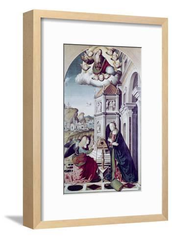 The Annunciation-Marco Palmezzano-Framed Art Print