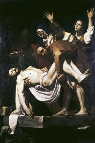 The Deposition-Caravaggio-Stretched Canvas Print