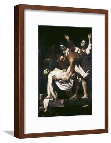 The Deposition-Caravaggio-Framed Art Print