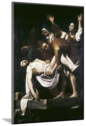 The Deposition-Caravaggio-Mounted Giclee Print