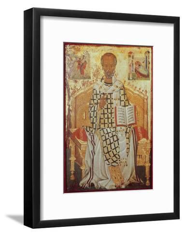 Saint Nicolas-Michael Damaskenos-Framed Art Print