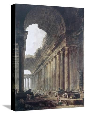 Fountains-Hubert Robert-Stretched Canvas Print