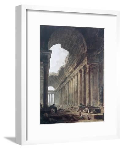 Fountains-Hubert Robert-Framed Art Print