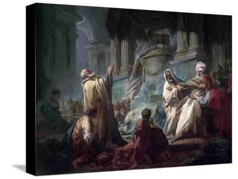 Jeroboam Sacrificing to the Idols-Jean-Honor? Fragonard-Stretched Canvas Print