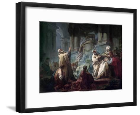 Jeroboam Sacrificing to the Idols-Jean-Honor? Fragonard-Framed Art Print