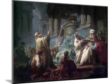Jeroboam Sacrificing to the Idols-Jean-Honor? Fragonard-Mounted Giclee Print