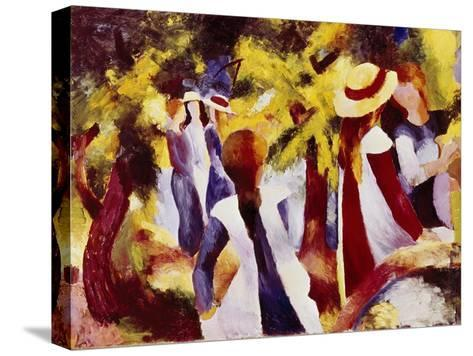 Girls Among Trees-Auguste Macke-Stretched Canvas Print
