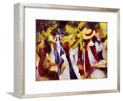 Girls Among Trees-Auguste Macke-Framed Art Print