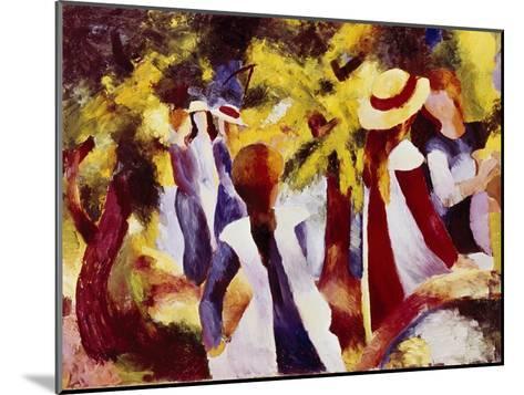 Girls Among Trees-Auguste Macke-Mounted Giclee Print