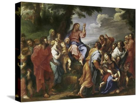 Sermon on the Mount-Hendrick Krock-Stretched Canvas Print