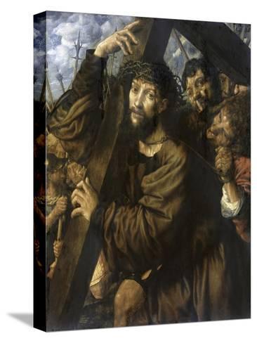 Christ Bearing the Cross-Jan Sanders van Hemessen-Stretched Canvas Print