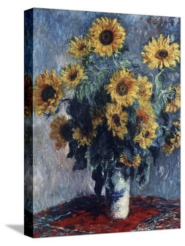 Sunflowers-Claude Monet-Stretched Canvas Print