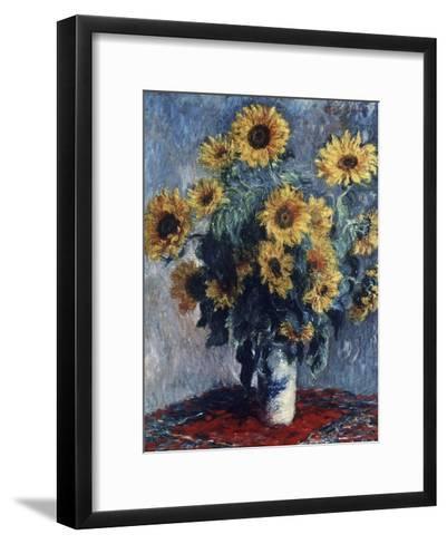 Sunflowers-Claude Monet-Framed Art Print