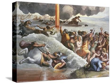 Moses Crossing the Red Sea-Raphael-Stretched Canvas Print