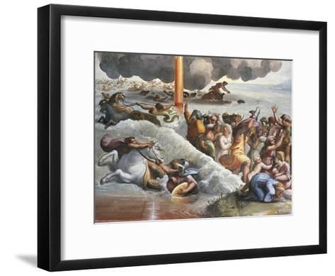 Moses Crossing the Red Sea-Raphael-Framed Art Print