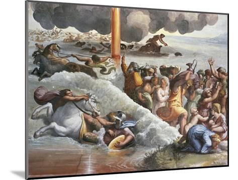 Moses Crossing the Red Sea-Raphael-Mounted Giclee Print