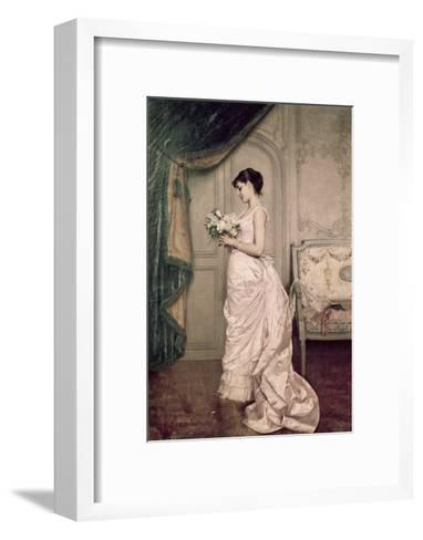 You Are My Valentine, Love Letter with Roses-Auguste Toulmouche-Framed Art Print