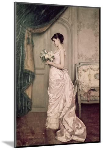 You Are My Valentine, Love Letter with Roses-Auguste Toulmouche-Mounted Giclee Print