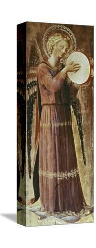 Angel with Tambourine-Fra Angelico-Stretched Canvas Print