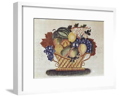 Fruit Filled Basket, Pennsylvania Dutch, 19th century--Framed Art Print
