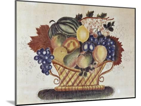 Fruit Filled Basket, Pennsylvania Dutch, 19th century--Mounted Giclee Print