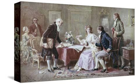 The Marriage Contract-Jean Leon Gerome Ferris-Stretched Canvas Print