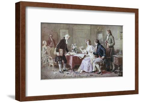 The Marriage Contract-Jean Leon Gerome Ferris-Framed Art Print