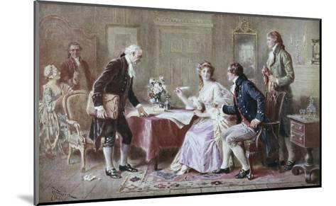 The Marriage Contract-Jean Leon Gerome Ferris-Mounted Giclee Print